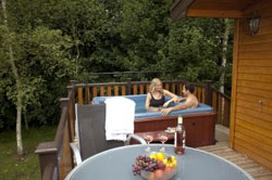 Hot tubs at Sandybrook Country park